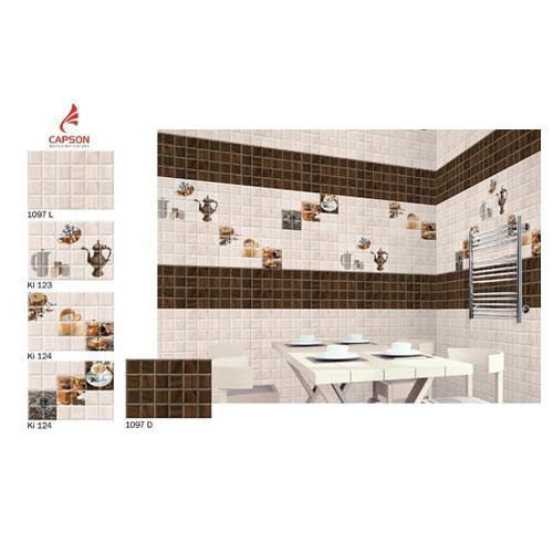 Kitchen wall tiles hand made kitchen wall tiles quater is a ceramic wall tile that combines - Kitchen wall tiles design ideas ...