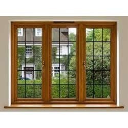 Wood Windows on indian house main door design