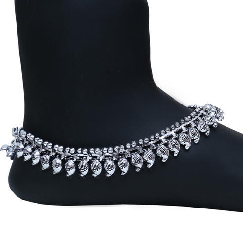 pack studded of diamond online silver jewellery anklet buy