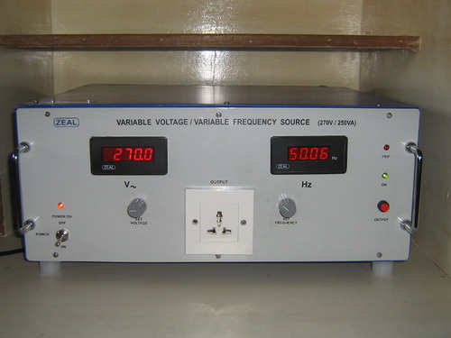 Zeal Variable Voltage Variable Frequency Source