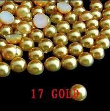 Golden Half Beads