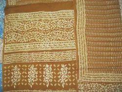 Bagru Hast Kala Printers Party Wear Bagru Natural Dye Block Print Saree, Machine, 5.2 M (separate Blouse Piece)