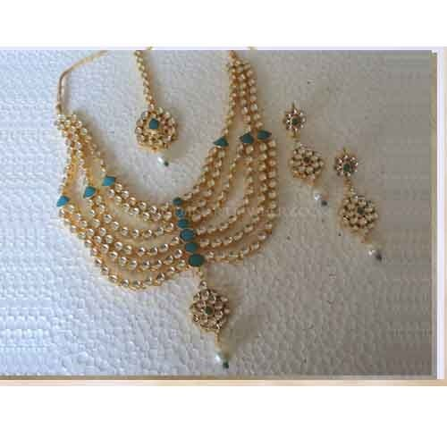 Indian Bridal Jewellery Set22k Gold Plated Turqoise at Rs 8500