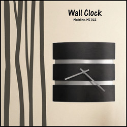 Wall Clock In Wood and Steel Combination