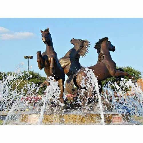 Outdoor Running Horse Fountain