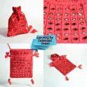 Red Both Side Patch Work Bags Potli Bags Banjara Bags