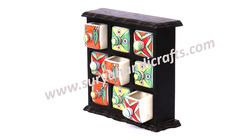 Wooden Almirah 9 Drawer