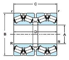 Four Row Tapered Roller Bearing (TRB)