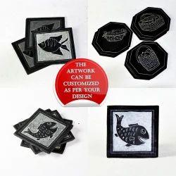 Slate Carved Coasters Custom Made