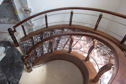 Wooden Handrail with S.S Railing