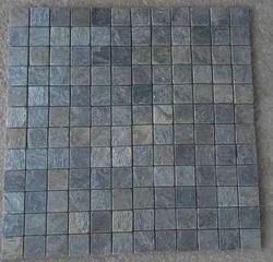 Silver Shine Slate Stone Mosaic Tiles