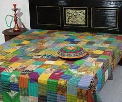 Kantha Silk Patola Bed Cover