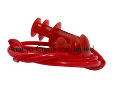 Swimming Ear Plug with Cord-Red