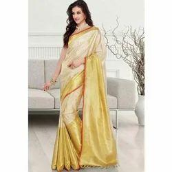 Yellow Silk Designer Sarees