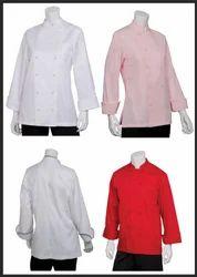 Polyester Mix Cotton Unisex Chef Coats, Size: S - 4XL