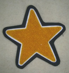 Star Chenille Patch for jacket, jerseys etc.