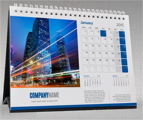 desk calendar for office