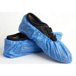塑料透明蓝色鞋套