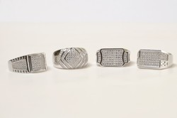 Silver Micro Gents Rings