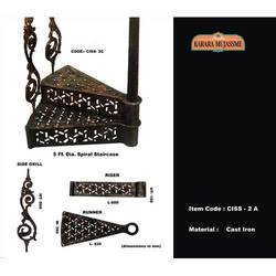 Antique Vintage Cast Iron Spiral Staircases