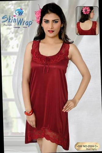 dff92f3e3e0 Silk Red Premium Plain Lounge Wear, Size: S, M & L, Rs 599 /piece ...