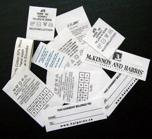 Taffeta Printed Label