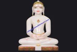 White Marble Mahavir Swami Ji Statue