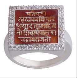 925 Silver Raj Mudra Finger Ring