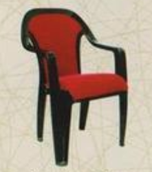 Plastic Furniture   Supreme Plastic Chairs With Cushion And Locker Painting  Wholesale Trader From Jamnagar