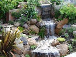 Outdoor Rock Water Falls