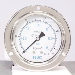 Pressure Gauges-F100-GFS-S-L-14-B0to1000PSI