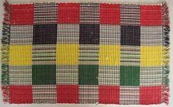 Green Plain Cotton Rugs, For Mat