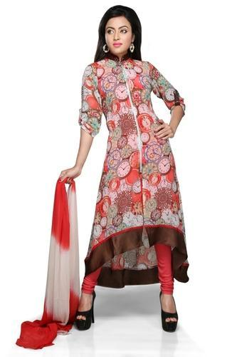 66efeb1331 Pakistani Designer Suits Long Party Wear Ladies Kurti at Rs 1699 ...