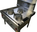 Front And 1 Rear Burner Chinese Wok Cooker