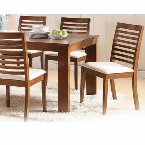 Incroyable Basil Sheesham Wood Dining Set For Six
