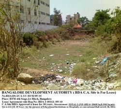 LAND - BTM LAYOUT LAND LEASE FOR 30 years