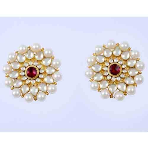 Indian 22k Gold Plated Wedding Necklace Earrings Jewelry: Bollywood Earrings Fashion-22K Gold Plated Bridal Jewelry