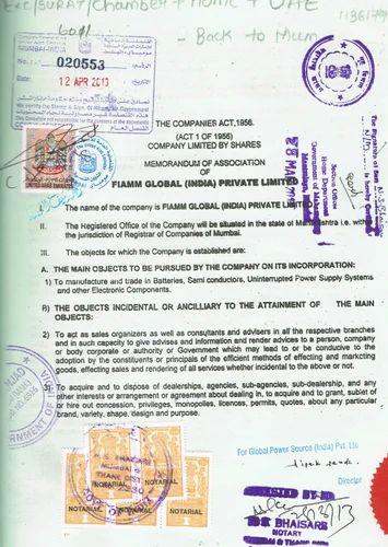 affidavit certificate attestation services in andheri