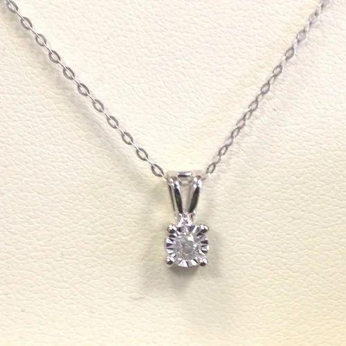 8f452f9ab2bbc 0.10Ct Illusion Set Round Diamond Pendant - Bahubali Exports, Surat ...