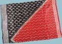 Block printed Matka saree