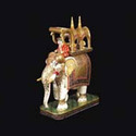 Decorated Elephant Marble Statue