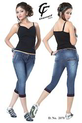 Slim Fit Capri Jeans
