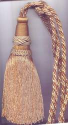 Light Gold Tassel Tieback