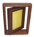 Carved Double Wooden Photo Frames