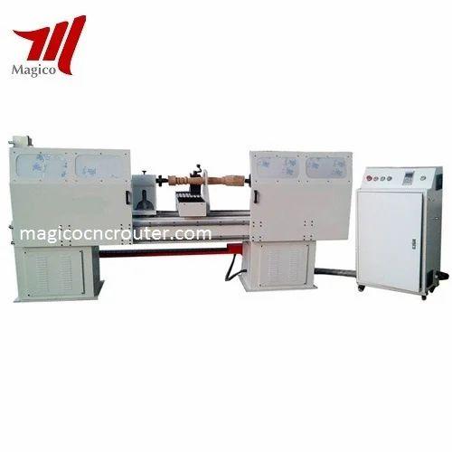 Semi Automatic Cnc Wood Turning Lathe Machine Rs 570000 Set Id