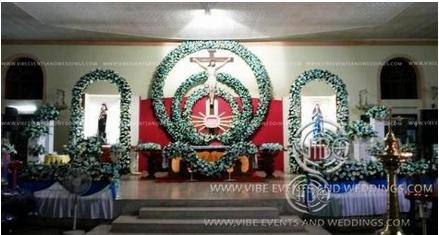Church Decoration In Kochi Vibe Events Weddings