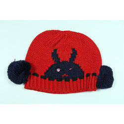 Kids VP Oswal Red Woolen Cap