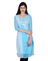 Georgette Casual Embroidered Kurti