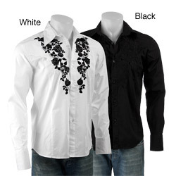 Givenchy Embroidered Thorns Shirt Men Clothing Shirts