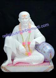 White Stone Statue Sai Baba